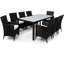 Bild 1 von Casaria Polyrattangarnitur 8+1 mit Sitzauflage schwarz-creme