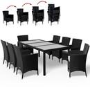 Bild 3 von Casaria Polyrattangarnitur 8+1 mit Sitzauflage schwarz-creme