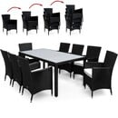 Bild 4 von Casaria Polyrattangarnitur 8+1 mit Sitzauflage schwarz-creme