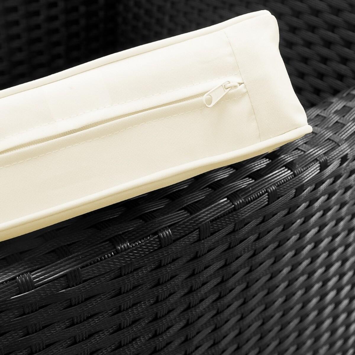 Bild 5 von Casaria Polyrattangarnitur 8+1 mit Sitzauflage schwarz-creme