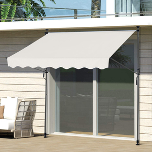 HC Home & Living Klemmmarkise Sonnenschutz 250 x 120 cm - Beige