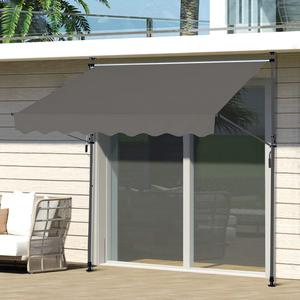 HC Home & Living Klemmmarkise Sonnenschutz 250 x 120 cm - Anthrazit