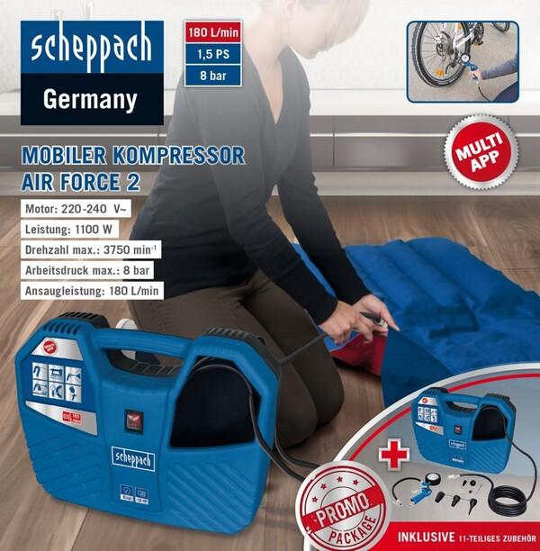 Scheppach Mobiler Kompressor Air Force 2