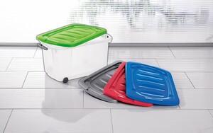 Toptex Ordnung Rollenbox mit Deckel - Grün 45 Liter