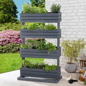 Powertec Garden Hochbeet mit 4 Pflanzkästen