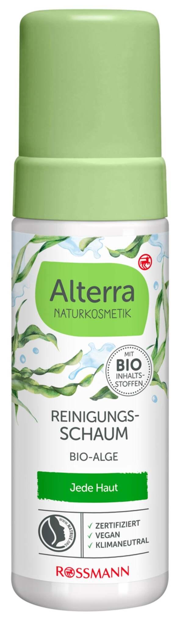 Alterra NATURKOSMETIK Reinigungsschaum Bio-Alge