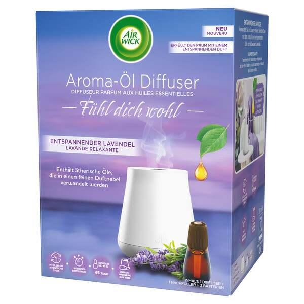 Air Wick Fühl dich wohl Aroma-Öl Diffuser Entspannender Lavendel Starter-Set