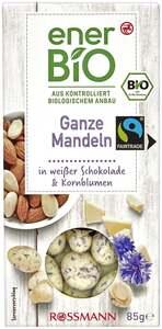 enerBiO Ganze Mandeln in weißer Schokolade & Kornblumen