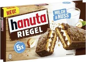 Ferrero hanuta Riegel mit Milch & Nuss