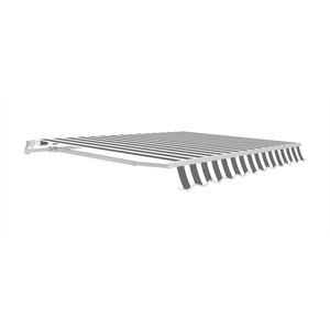 Gelenkarmmarkise grau/weiß 300 x 200 cm