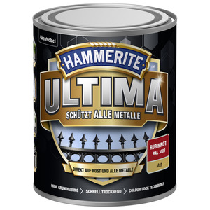 Metallschutzlack 'Ultima' RAL 3003 rubinrot matt 750 ml