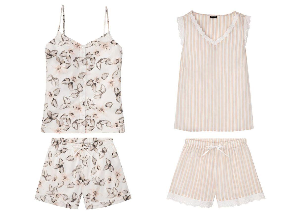 Bild 1 von ESMARA® Shorty Pyjama Damen, aus reiner Baumwolle