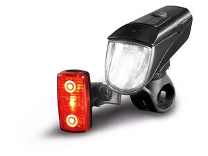 CRIVIT® LED Fahrradleuchtenset, 2-teilig, mit Akku