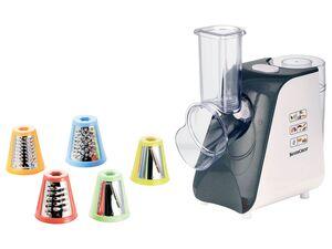 SILVERCREST® Elektrische Gemüseraspel, 5 Trommeleinsätze