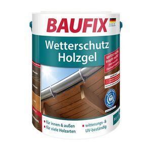 Baufix Wetterschutz Holzgel 5 Liter - nussbaum