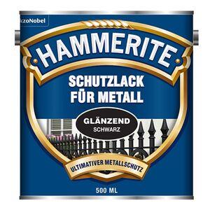 Hammerite Schutzlack für Metall - Glänzend schwarz 500 ml