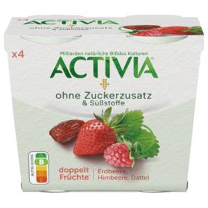 Danone Activia Erdbeere Himbeere Datteln 4x110g