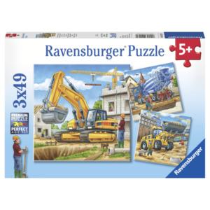 Ravensburger Puzzle Große Baufahrzeuge 3x49 Teile