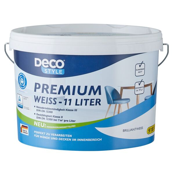 DECO STYLE®  Premiumweiß 11 l