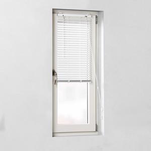 Aluminium-Jalousie Fix montiert (80x160, inkl. Klemmträger, weiß)