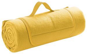 Picknickdecke Uni in Gelb ca. 125x150cm