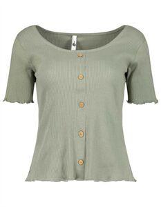 Damen Shirt mit Knopfleiste