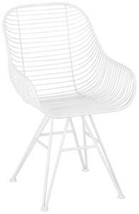 Stuhl aus Eisen in Weiß