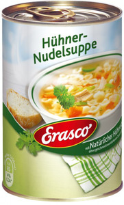 Erasco Klare Hühner-Nudelsuppe mit Hühnerbrühe 390 ml