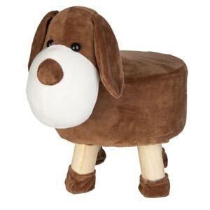 Sitzhocker - Hund - braun