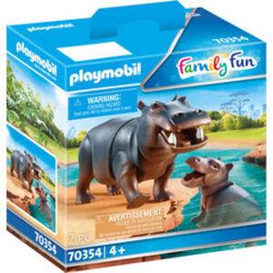 PLAYMOBIL® Family Fun 70354 Flußpferd mit Baby