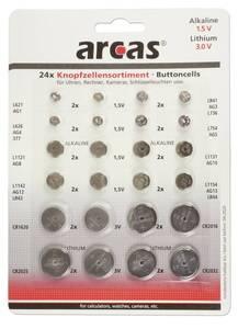 Alkaline und Lithium Knopfzellen Set - 24-teilig