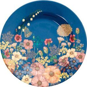 """Melamin Teller """"Flower Collage"""", Ø20 cm blau"""