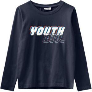 Langarmshirt NKMVUX , Organic Cotton dunkelblau Gr. 122/128 Jungen Kinder