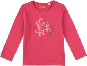 Langarmshirt , Organic Cotton dunkelrosa Gr. 98 Mädchen Kleinkinder