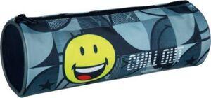 Schlampermäppchen Smiley blau Modell 2