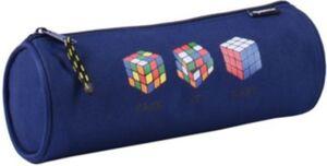 Schlampermäppchen rund, Rubik's Cube blau Jungen Kinder