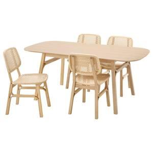 VOXLÖV / VOXLÖV Tisch und 4 Stühle, Bambus/Bambus