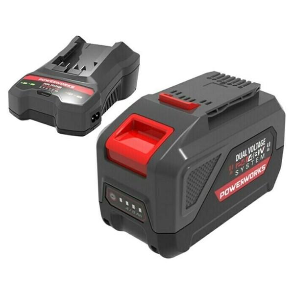 Powerworks Dual Voltage Akku & Ladegerät Starter-Kit PSK2448B4X
