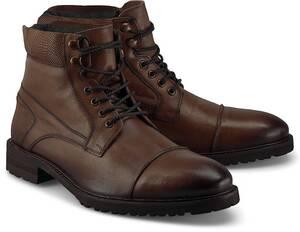 COX, Schnür-Boots in dunkelbraun, Stiefel für Herren