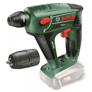 Bosch Bohrhammer Akku Uneo Maxx 18 V ohne Akku, 2,5 Ah Schlagzahl 5000 min-1
