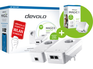DEVOLO 8614-8559 Magic 2 WiFi Next SK + 1 Mini SGL Powerline-Adapter 2400 Gbit/s Kabellos und Kabelgebunden