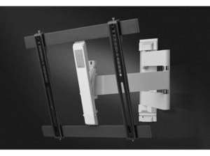 ONE FOR ALL Ultra Slim Wandhalterung, max. 65 Zoll, Schwenkbar, Neigbar, Weiß/Schwarz