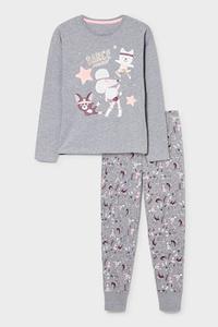 C&A Pyjama-Bio-Baumwolle-2 teilig, Schwarz, Größe: 176
