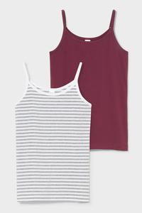 C&A Singlet-Bio-Baumwolle-2er Pack, Weiß, Größe: 158-164