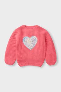 C&A Pullover-Glanz-Effekt, Rosa, Größe: 92