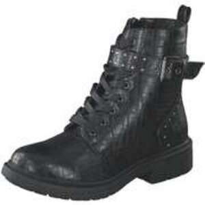 Barbarella Schnür Boots Damen schwarz