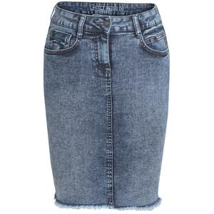 Damen Jeans-Rock in Moonwashed-Optik