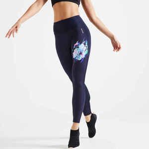Leggings hoher Taillenbund Fitness figurformend, Smartphone Tasche