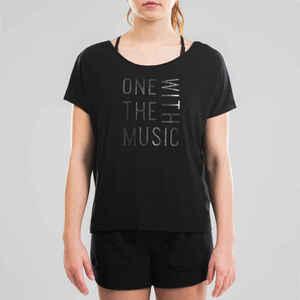 Tanz-Shirt Modern Dance fließend Damen schwarz