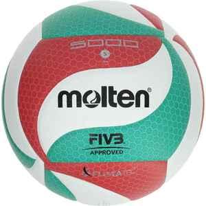 Volleyball Molten 5000 Indoor FIVB geprüft grün/rot